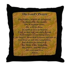 Lords Prayer_Gold frame Throw Pillow