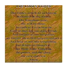 Lords Prayer_Gold frame Tile Coaster