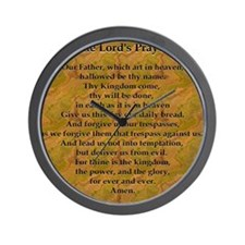 Lords Prayer_Gold frame Wall Clock