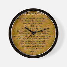 Lords Prayer_Gold frame Wall Clock