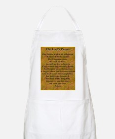 Lords Prayer_Gold frame Apron
