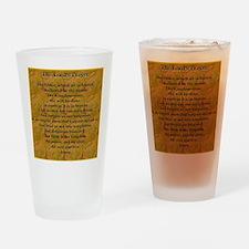 Lords Prayer_Gold frame Drinking Glass