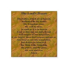 "Lords Prayer_Gold frame Square Sticker 3"" x 3"""