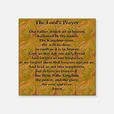"Lords Prayer_Gold frame Square Sticker 3"" x 3"""