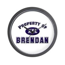 Property of brendan Wall Clock
