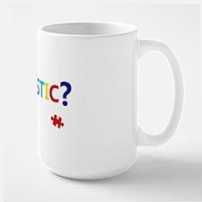 dontseemautistic-whitetext Large Mug