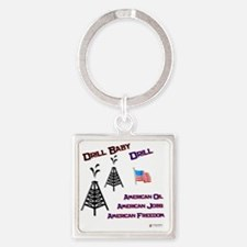 drill baby drill Square Keychain