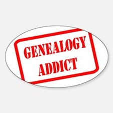 GENEALOGYaddict1RED Decal
