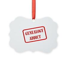 GENEALOGYaddict1RED Ornament