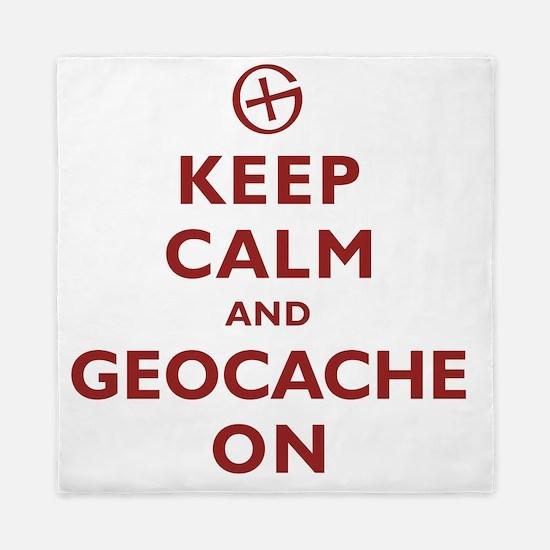 Keep Calm and Geocache On Queen Duvet