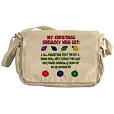 MYCHRISTMASgenwishlist2d Messenger Bag