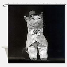 The Dapper Cat, 1906 Shower Curtain