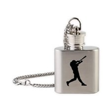 Baseball Player Photo Flask Necklace