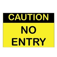 CAUTION_NO_ENTRY Postcards (Package of 8)