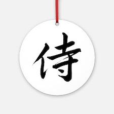samurai-kanji-7x7 Round Ornament