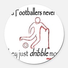 Old Footballers Dribble 1500 Round Car Magnet
