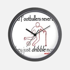 Old Footballers Dribble 1500 Wall Clock
