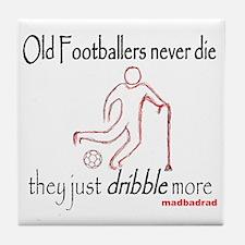 Old Footballers Dribble 1500 Tile Coaster
