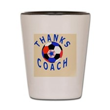 Soccer Coach Thank You Gift Magnet Shot Glass