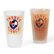Soccer Coach Thank You Keepsake Gif Drinking Glass