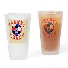 Thank You Soccer Coach Gift Magnet Drinking Glass
