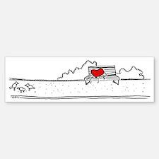 Heart on a bench Bumper Bumper Sticker