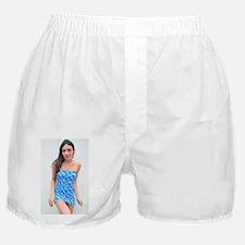 Tara in Exotic Rose Boxer Shorts
