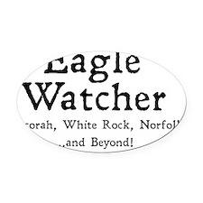 eaglewatcher4 Oval Car Magnet