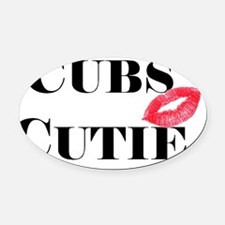 Cubs Cutie Oval Car Magnet