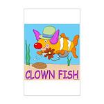 Clown Fish Mini Poster Print