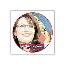 """Palin-Eagle-10trans Square Sticker 3"""" x 3"""""""