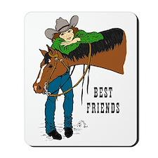 Western Best Friends Mousepad