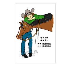 Western Best Friends Postcards (Package of 8)
