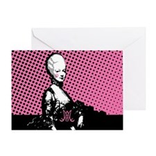 marie-antoinette-pop-art_12x18h Greeting Card