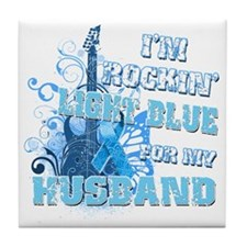 Im Rockin Light Blue for my Husband Tile Coaster