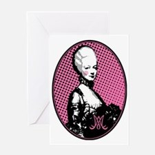 marie-antoinette-pop-art_oval_tr Greeting Card