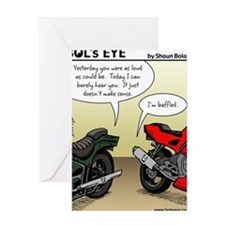 w_website 155 Baffled Bikes_CLR Greeting Card