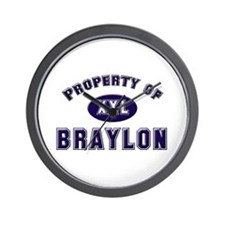 Property of braylon Wall Clock