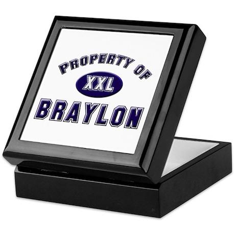 Property of braylon Keepsake Box