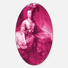 marie-antoinette-pinkified_sg Sticker (Oval)