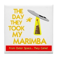 funny marimba musical instrument Tile Coaster