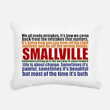 smallvillequotescard Rectangular Canvas Pillow