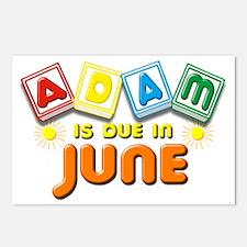 Adam is Due in June Postcards (Package of 8)