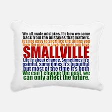 smallvillequotesprint Rectangular Canvas Pillow