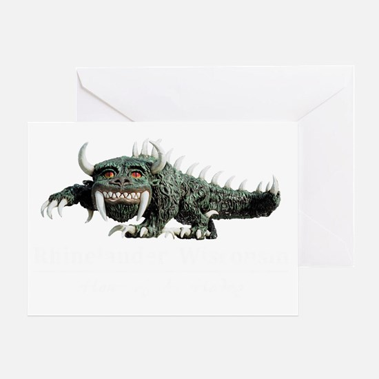 rhinelander_hodag_4dark_colors Greeting Card