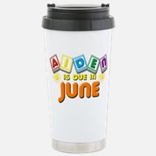 Aiden is Due in June Travel Mug