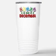 Aiden is Due in December Travel Mug