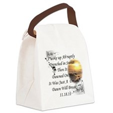 Dawn Will break Canvas Lunch Bag