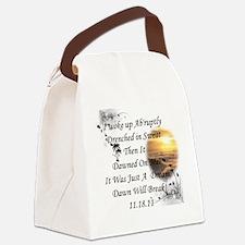 Dawn Will break Canvas Lunch Bag