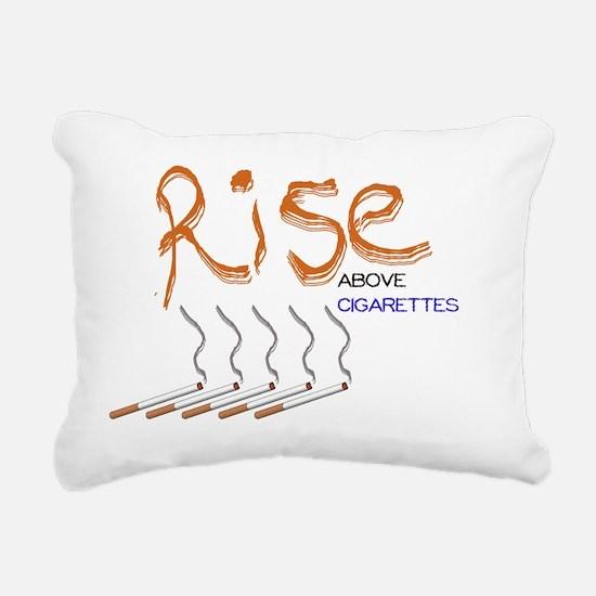 Rise Above Smoking2_WJC2 Rectangular Canvas Pillow